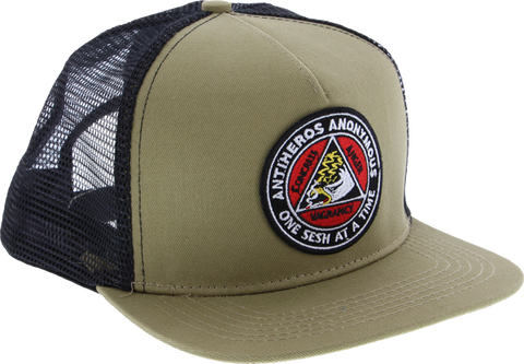 Ah Anonymous Mesh Hat Adj-Khaki Blk