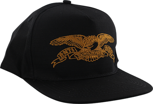 Ah Basic Eagle Hat Adj-Blk/Gold