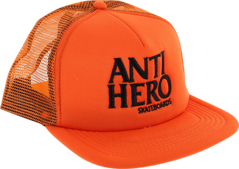 Ah Black Hero Mesh Hat Adj-Safety Org/Blk