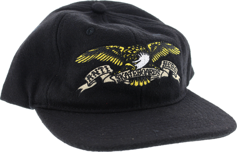 Ah Eagle Emblem Wool Hat Adj-Black