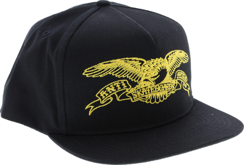 Ah Eagle Hat Adj-Blk/Gold