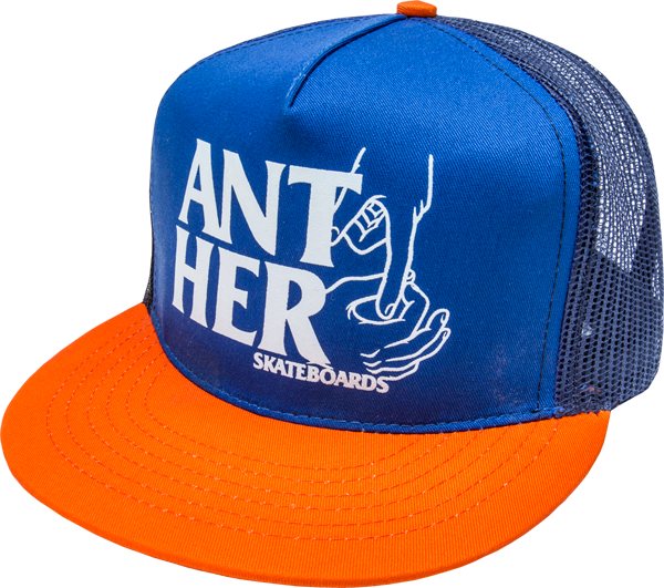 Ah Hole In One Mesh Hat Adj-Blu/Org
