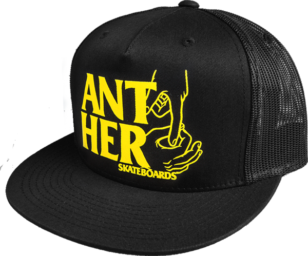 Ah Hole In One Mesh Hat Adj-Blk/Yel