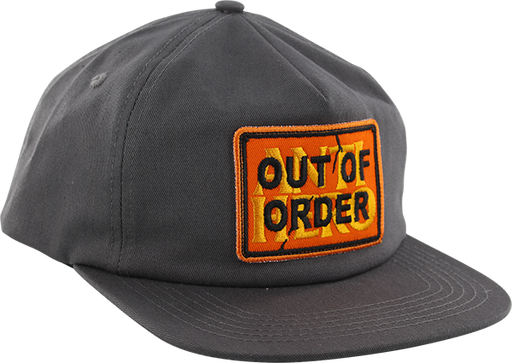 Ah Out Of Order Hat Adj-Charcoal/Org