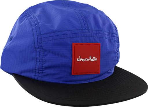 Choc Red Square 5 Panel Hat Adj-Royal