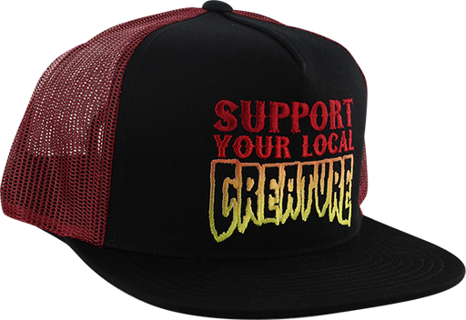 Creature Support Mesh Hat Adj-Black/Cardinal
