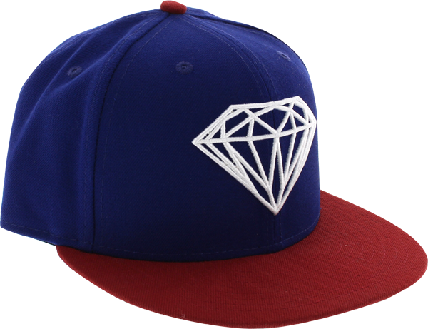 Diamond Brilliant Hat 7-3/8 Royal/Red