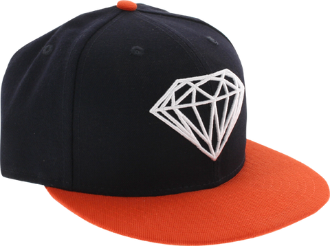 Diamond Brilliant Hat 7-1/2 Navy/Org