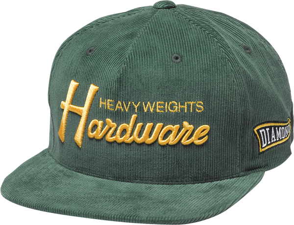 Diamond Hardware Hat Adj-Grn/Gold Snapback