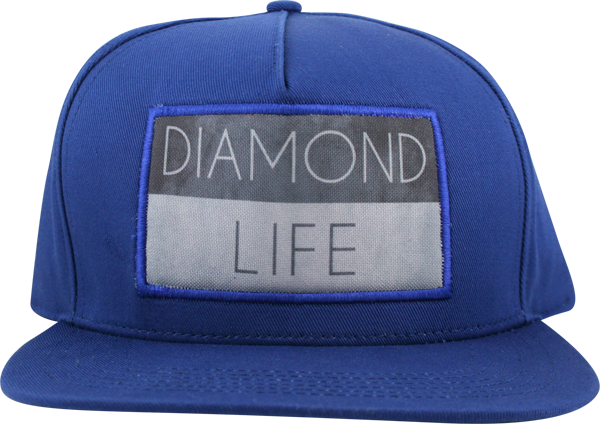 Diamond Life Flag Hat Adj-Royal Snapback