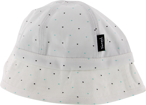 Diamond Micro Diamond Bucket Hat S/M-White