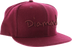 "Diamond Og Script Hat 7-7/8"" Burgundy"