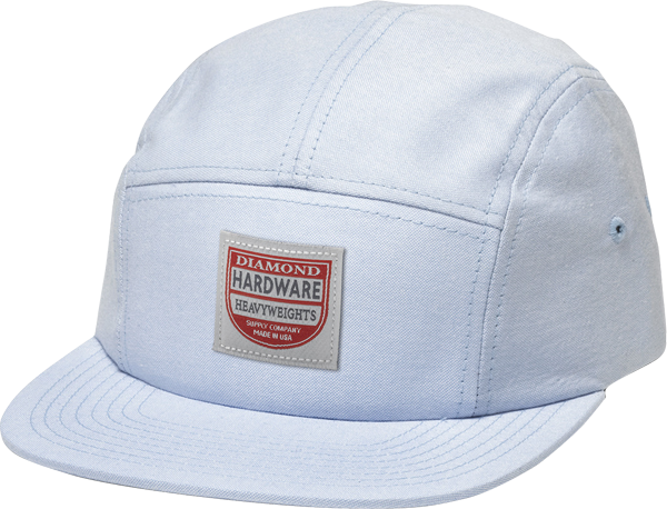 Diamond The Port 5 Pnl Camp Hat Blue&Wht Chambray
