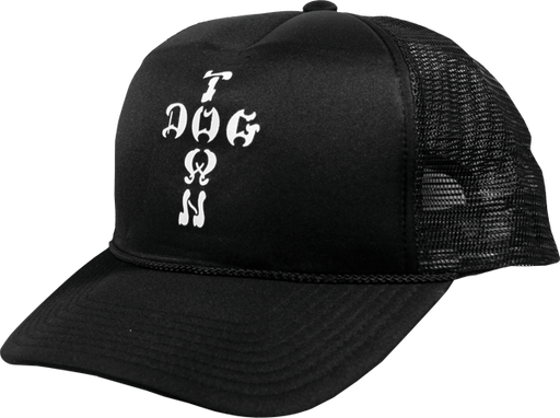 Dogtown Cross Letter Mesh Adj-Black