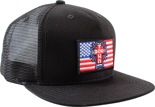 Dogtown Flag Patch Mesh Hat Adj-Black