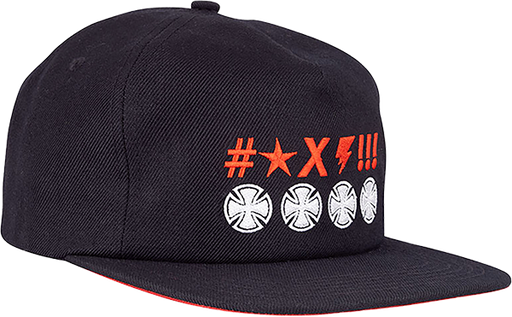 Inde Ante Crosses Hat Adj-Black