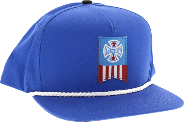 Inde Label Cross Hat Adj-Royal