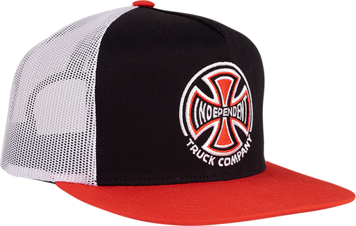 Inde Truck Co Mesh Hat Adj-Blk/Wht/Red
