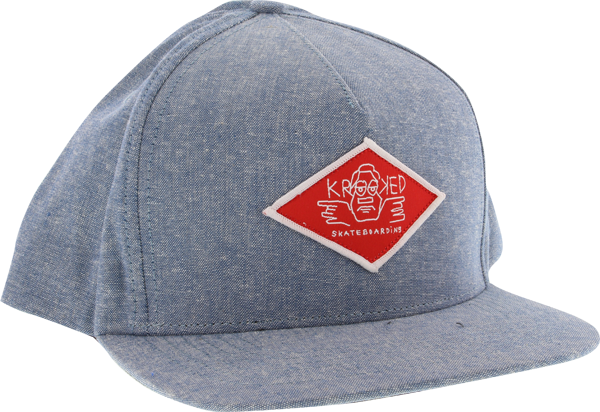 Krk Arketype Hat Adj-Denim Chambray/Red