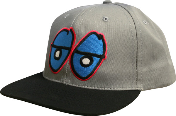 Krk Eyes Hat-Grey/Blue/Pink Snapback