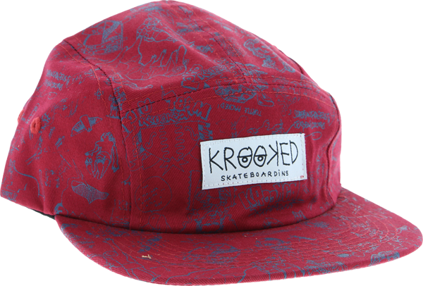 Krk Karacters 5Panel Camper Hat Adj-Red