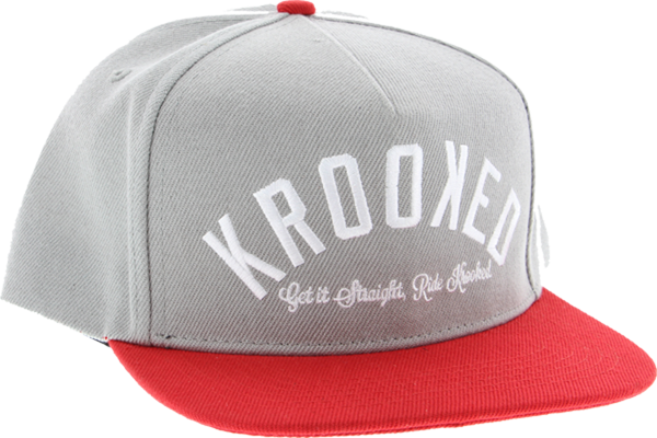 Krk Ksb Arched Hat Adj-Grey/Red Snapback