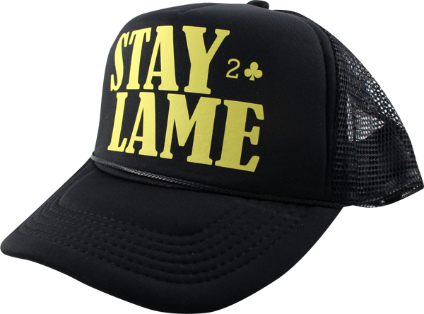 Lowcard Stay Lame Mesh Hat Adj-Black