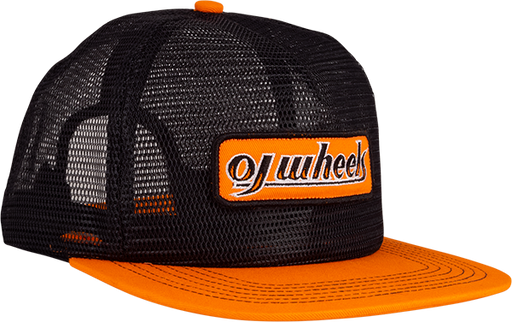 Oj Two Tone Patch Mesh Hat Adj-Black