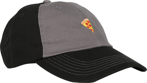 Pizza Emoji Hat Adj-Charcoal/Black