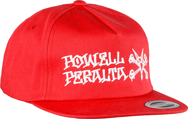 Pwl/P Rat Bones Hat Adj-Red