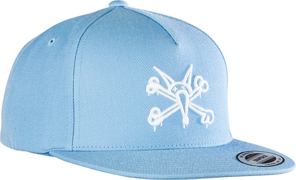 Pwl/P Vato Rat Hat Adj-Powder Blue/Wht