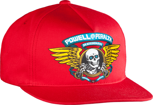 Pwl/P Winged Ripper Hat Adj-Red