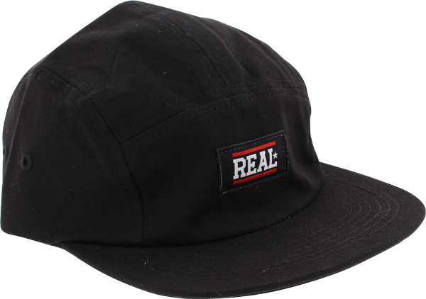 Real Bar Logo 5Panel Camper Hat Adj-Black