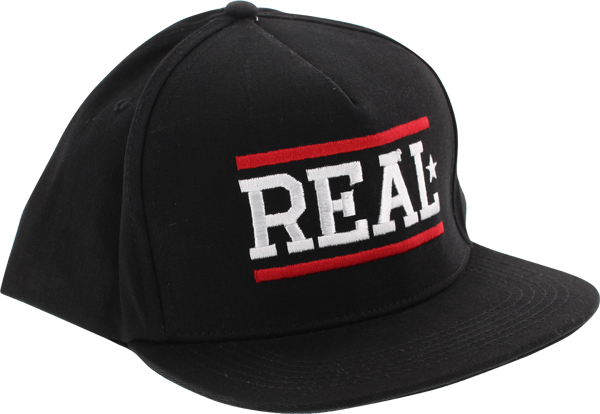 Real Bar Logo Snapback Hat Adj-Black