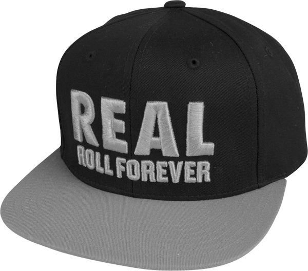 Real Genuine Snapback Adj Cap-Blk/Grey