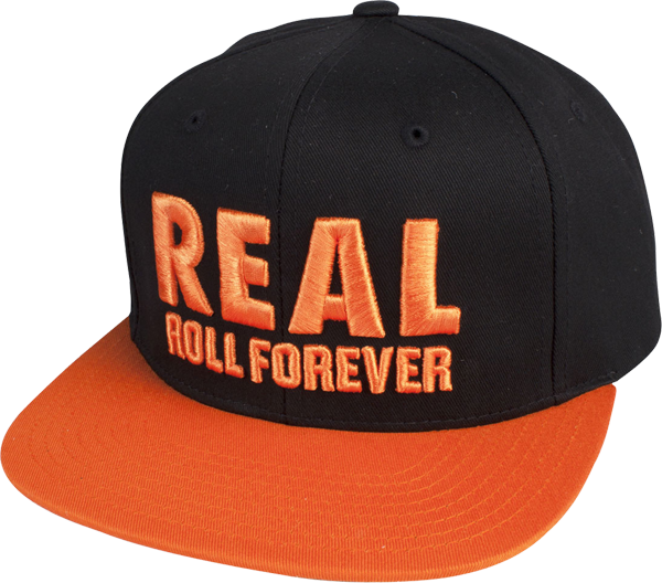 Real Genuine Snapback Hat Adj-Org/Blk