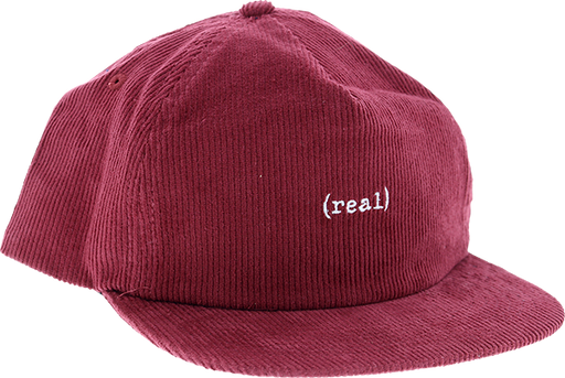 Real Lower Cord Hat Adj-Maroon