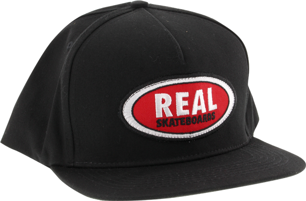 Real Oval Patch Adj Hat-Black