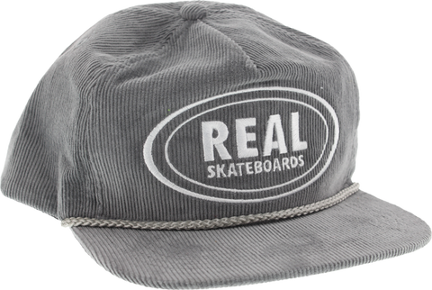Real Oval Unstructured Cord Adj Hat-Grey/Wht