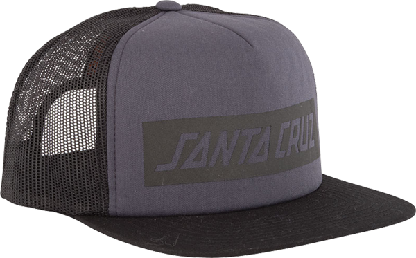 Sc Block Strip Trucker Mesh Hat Adj-Carbon/Blk
