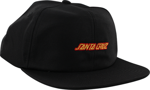 Sc Strip Hat Adj-Black/Red