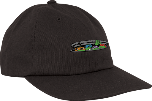 Sc Ninja Turtles Logo Unstructured Hat Adj-Black