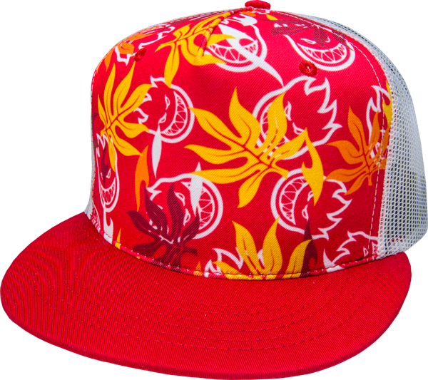 Sf Aloha Mesh Hat Adj-Red