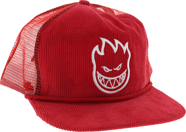 Sf Bighead Trucker Mesh Cord Hat Adj-Red/Wht