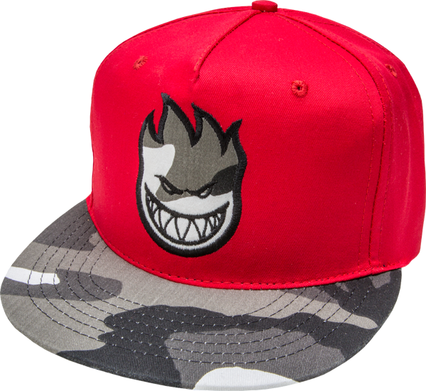 Sf Bighead Urban Camo Hat Adj-Red Snapback