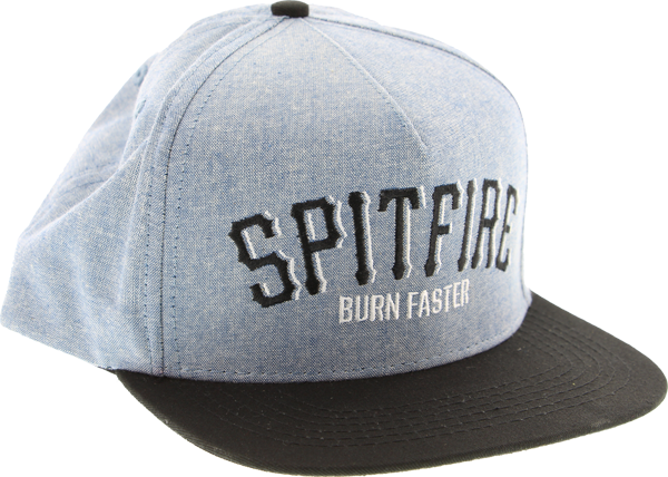 Sf Burn Arch Hat Adj-Chambray/Blk Snapback
