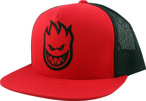 Sf Bighead Mesh Hat Adj-Red/Blk