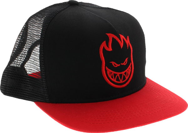 Sf Bighead Mesh Hat Adj-Blk/Red/Red Bill