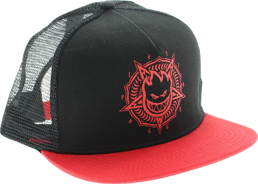 Sf Pentaburn Mesh Hat Adj-Blk/Red