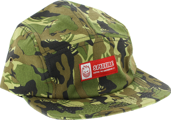 Sf Trademark 5 Panel Hat Adj-Camo